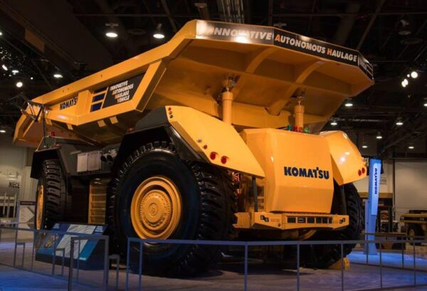 An autonomous truck like those used by BHP in mining operations, credit: Komatsu